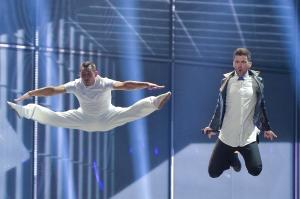 Grikkirnir  fljúga! Mynd: Eurovision.tv
