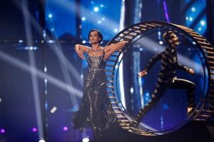 Allt á fullu hjá Úkraínu! Mynd: Eurovision.tv