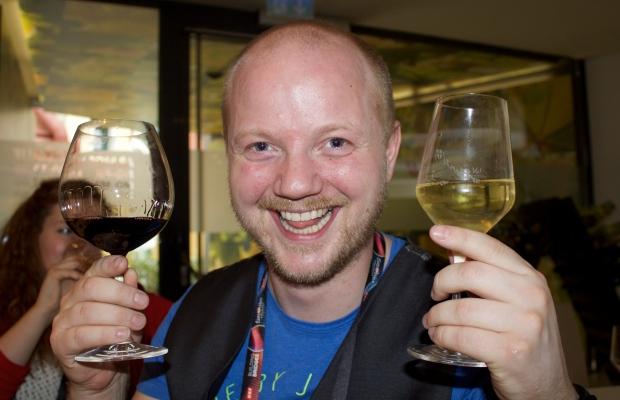 Flosi með vín í Vín!